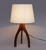 Kalenna Table Lamp in Cream by Bohemiana