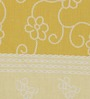 Bombay Dyeing Florentine Yellow Cotton Double Bed Sheet (with Pillow Covers)