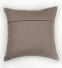 Bombay Mill Grey & Silver Cotton 16 x 16 Inch Buddha & Bodhi Tree Embroidery Cushion Cover