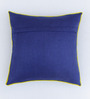 Bombay Mill Indigo & Green Polyester 16 x 16 Inch Butterfly Embroidery Cushion Cover