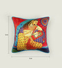 Bombay Mill Multicolour Matt Satin 16 x 16 Inch Mughal Style Digital Print Cushion Cover