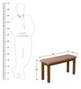 Bony Dining Bench in Brown Colour by @home