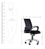 Boom High Back Executive Chair in Black Colour by Emperor