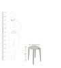 Boomerang Side Table in White Colour by Godrej Interio