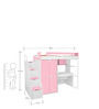 Boston Study Bunk Bed Set in Pink & White Colour by Alex Daisy