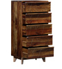 Boyd Chest of Five Drawers in Provincial Teak Finish by Woodsworth