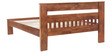 Brava King Size Bed in Warm Rich Finish by Inliving