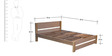 Brooke King Size Bed with Light Oak Finish by Forzza