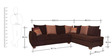 Brooklyn LHS Lounger Sofa in Brown Colour by HomeTown