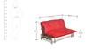 Brussels Sofa cum Bed in Red Finish by Godrej Interio