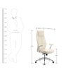 Bravia Executive Chair in White Leather by Oblique