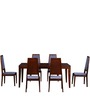 Brianna Six Seater Dining Set in Honey Oak Finish by Woodsworth