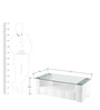 Brick Coffee Table in White Colour by @home