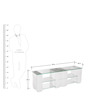 Brick Low Height Entertainment Unit in White Colour by @home