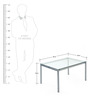 Britz Rectangular Center Table in Clear  colour by @home