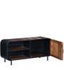 Trenton Entertainment Unit in Distress Natural Finish by Bohemiana