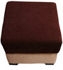 Brown & Beige Pouffe by RVF