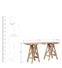 Burgdorf Console Table in Natural Mango Wood Finish by Woodsworth