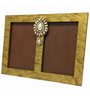 Butterfly Homes Gold Wooden 8.5 x 12 Inch Ethnic Dual Single Photo Frame