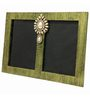 Butterfly Homes Green Wooden 8.5 x 12 Inch Stylish Dual Single Photo Frame