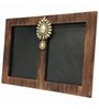 Butterfly Homes Brown Wooden 8.5 x 12 Inch Alluring Dual Single Photo Frame