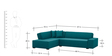 Cadison L Shape Sofa in Blue Colour by Madesos