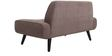 Camilia Two Seater Sofa in Brown Colour by CasaCraft