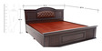 Capsule Queen Bed with storage in Brown colour by Looking Good Furniture