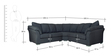 Carina Five Seater Corner Set in Graphite Grey Colour by CasaCraft