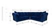 Carina Five Seater Corner Set in Steel Blue Colour by CasaCraft