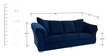 Carina Three Seater Sofa in Steel Blue Colour by CasaCraft