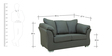 Carina Two Seater Sofa in Graphite Grey Colour by CasaCraft