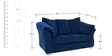 Carina Two Seater Sofa in Steel Blue Colour by CasaCraft