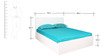 Carol High Gloss King Bed with Hydraulic Storage in White Colour by HomeTown