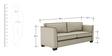 Carolina Sofa Set (3+1) Seater in Beige Color by ARRA