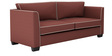Carolina Sofa Set (3+1+1) Seater in Cherry Color by ARRA