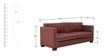 Carolina Three Seater Sofa in Cherry Colour by ARRA
