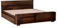 Freemont King Bed With Storage in Provincial Teak Finish by Woodsworth