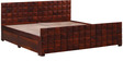 Reno King Bed With Storage in Honey Oak Finish by Woodsworth