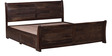 Toston Roca King Bed With Storage in Provincial Teak Finish by Woodsworth