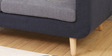 Cassia Two Seater Sofa in Grey and Dark Blue Colour by CasaCraft