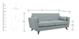 Castello Three Seater Sofa in Gravel Grey Colour by CasaCraft