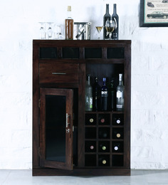 CartagenaTall Bar Cabinet In Provincial Teak Finish By Woodsworth