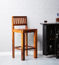 Amarillo Bar Chair In Honey Oak Finish By Woodsworth