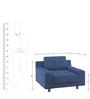 Calanna One Seater Sofa in Dark Blue Colour by Madesos