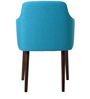 Calascio Arm Chair (Set of 2) in Blue Colour with Cappuccino Legs by CasaCraft