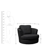 Caleen Accent Chair in Black Colour by Madesos