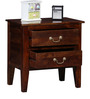 Prescott Bed Side Table in Provincial Teak Finish by Woodsworth