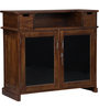 Calliope Bar Unit in Provincial Teak Finish by Woodsworth