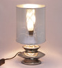 Turner Table Lamp in Silver by Bohemiana